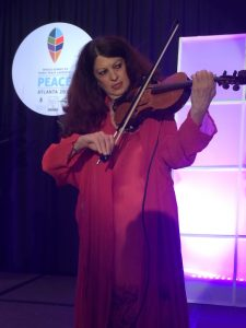 Scarlet Rivera playing the World Peace Violin