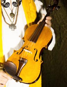 Patrick McCollum with the World Peace Violin